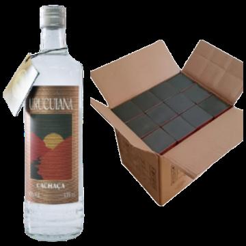 Cachaça Urucuiana Pura 670 ml Original - CAIXA com 12 unidades