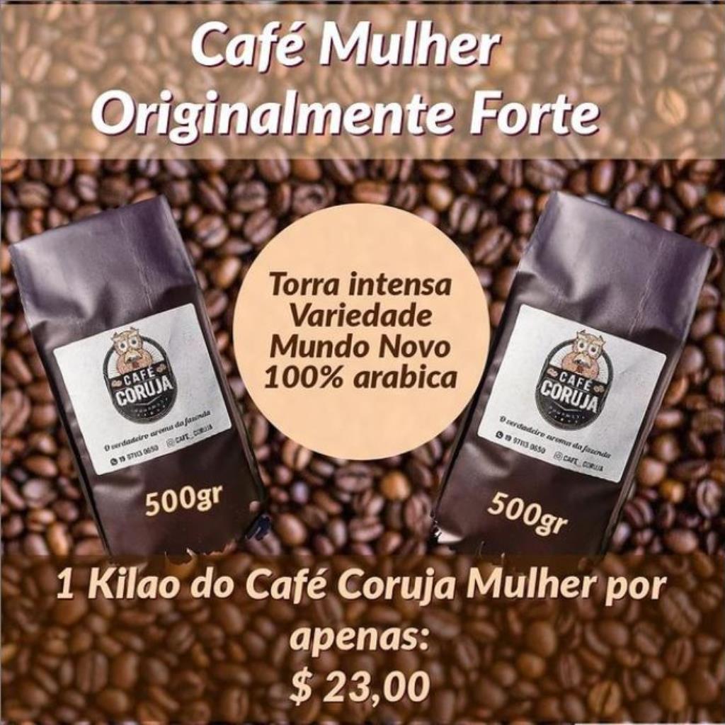 CAFÉ CORUJA MULHER - FORTE 1KG