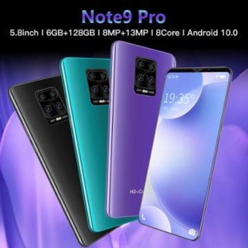 Celular Note9 Pro 128 6 Gb Ram + Cinza; Preto Ou Verde 100% Original