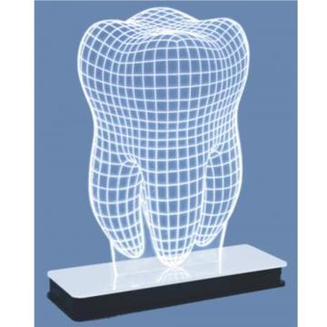 Luminária Decorativa 3D Led Agir Tema Dente Todos os Ambientes