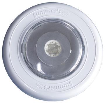 Refletor Led Para Piscina Power Slim 13W Luz Branca Aro Branco