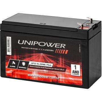 Bateria Selada de Alarme Unipower Chumbo Ácido Selada 12V 7 ah