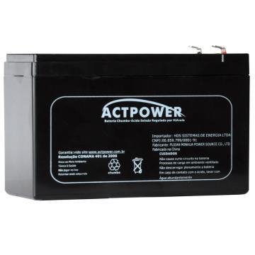 Bateria Selada de Alarme ACTPOWER Chumbo Ácido Selada 12V 7 ah