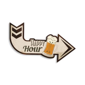 Quadro Seta Happy Hour 28 x 49 cm