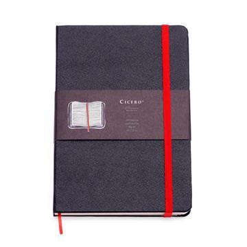 Caderneta Clássica 14x21 - Vermelha e Preta - Pautada