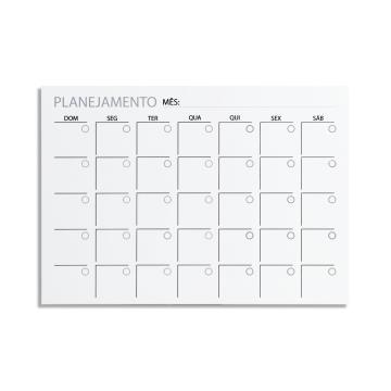 Painel Calendário Mensal 51x71cm