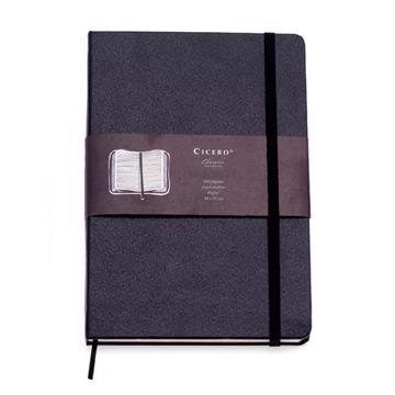 Caderneta Clássica 14x21 - Preta - Pautada