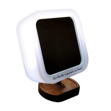 Box Espelho Luminária Natural