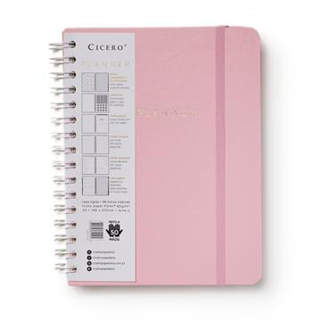 Planner Wire-o - Pastel - Semanal A5 - Rosa