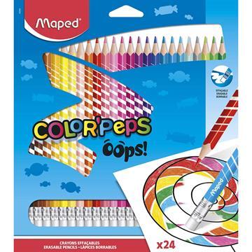 Lápis de Cor Color Peps Apagável 24 Cores