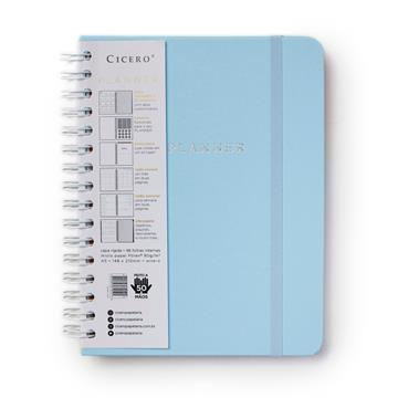 Planner Wire-o - Pastel - Semanal A5 - Azul