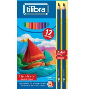 Lápis de Cor 12 cores Tilibra + 2 lápis