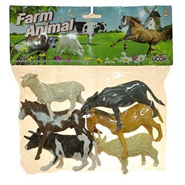 Brinquedo Farrm Animals  kit com 6 peças