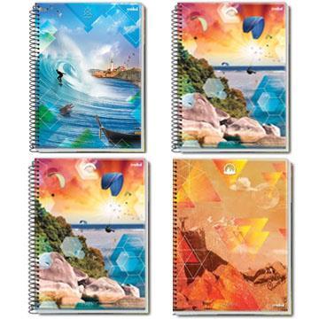 Caderno Quadriculado  10x10 Happy 96 folhas 200x275