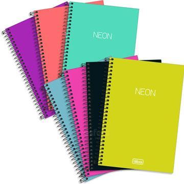 Caderno Espiral Tilibra Neon 96 folhas 142x208 1/4 pequeno