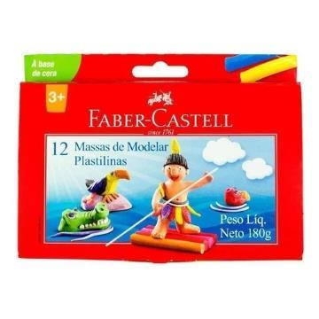 Massa de Modelar 12 cores Faber Castell 180g