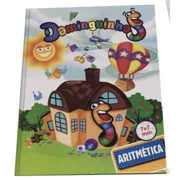 Caderno Quadriculado Capa Dura Brochura SD Dominguinhos 190x248 40 folhas 7x7mm