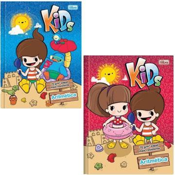 Caderno Quadriculado 7x7mm Capa Dura Brochura Tilibra Kids 187x245 40 folhas