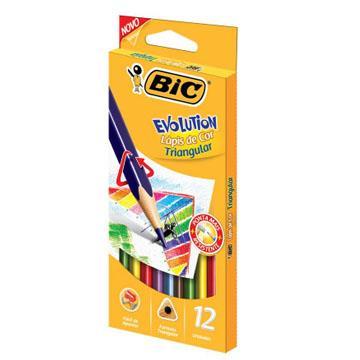 Lápis de cor 12 cores Bic Evolution