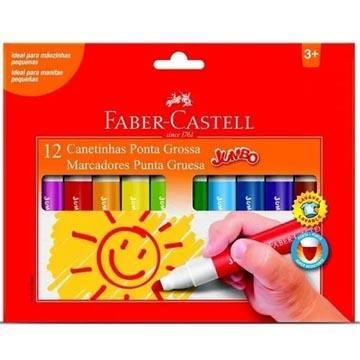 Caneta Hidrográfica Faber-Castell Jumbo 12  cores Ponta Grossa