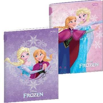 Caderno Capa Dura Brochura Disney Frozen Jandaia  96 folhas 14x20
