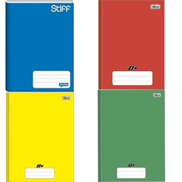 Caderno Capa Dura Brochurão cores Jandaia Stiff e Tilibra D+ 96 Folhas 20x27