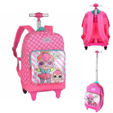 Mochilas de rodinhas originais LOL Pink ic32955lo luxcel Escolar