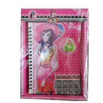 Diário Secreto Glitter tipo caderno com cadeado 60 folhas