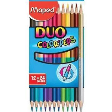 Lápis de Cor Maped Duo Color Peps 12 lápis 24 cores