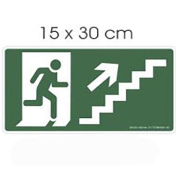 """Placa de Sinalização Imports """"Subir Escada"""" Poliestireno PSAI 15x30"""