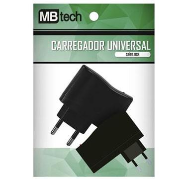 Carregador Universal de Celular Saída USB MBtech