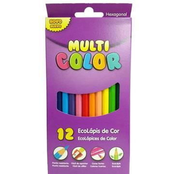 Ecolápis de cor 12 cores Multicolor