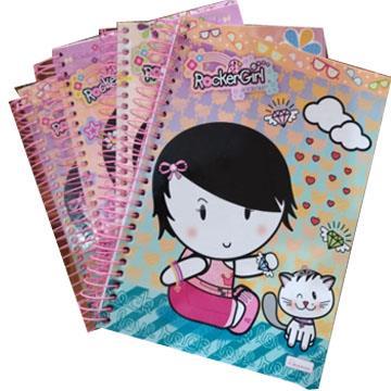 Caderno Universitário Rocker Girl Cadersil 15 matérias 199x270mm 300 Folhas