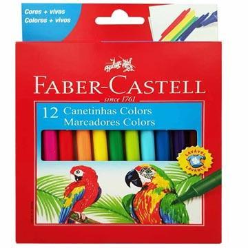 Caneta Hidrográfica Faber-Castell 12  cores