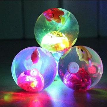 Bola Peixinho Iluminada Transparente