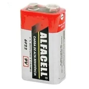 Bateria Comum 9v 6F22 Alfacell