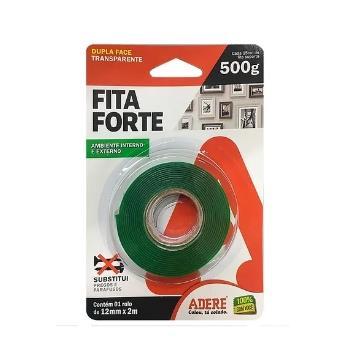 Fita Forte Dupla Face Verde 12mmx2m Adere