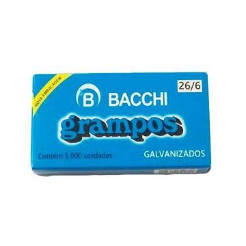 Grampos metálicos galvanizados 26/6 Bacchi para grampeadores 500un