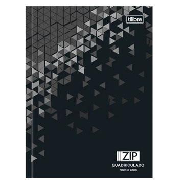 Caderno Quadriculado 7x7mm Brochura 200x140 Tilibra Zip capa dura