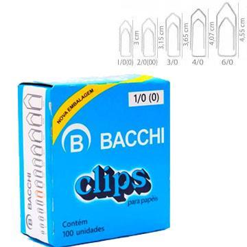 Clips papa papéis Bacchi 1/0 100 unidades