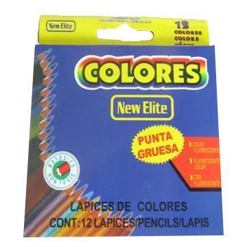 Lápis de Cor 12 cores New Elite