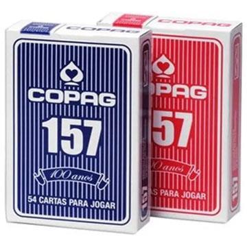 Baralho Copag 157 54 cartas Azul ou Vermelho