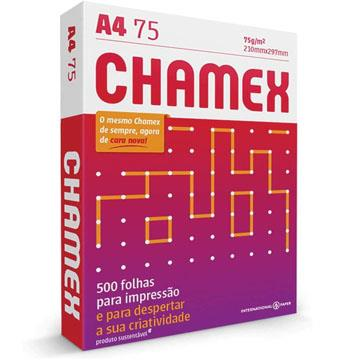 Papel Sulfite Chamex Branco 75g A4  210x297mm 500fls