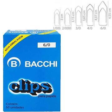 Clips para papéis Bacchi 6/0 220 unidades