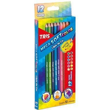 Lápis de cor 12 cores Tris Mega Soft Color Tons Pastel