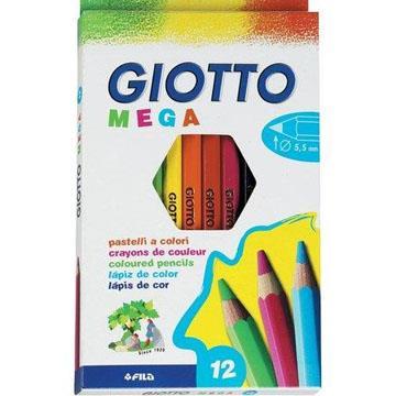 Lápis de Cor 12 cores Giotto Mega