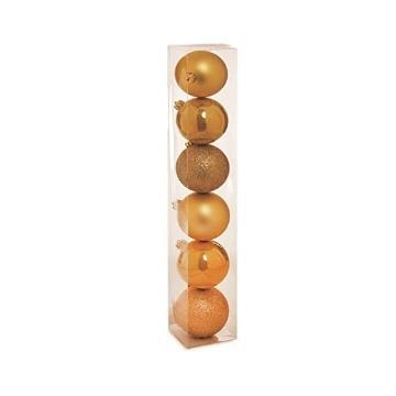 Bolas de Natal Pequenas com Vinco Ouro c/09un