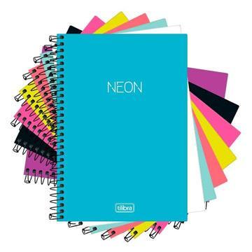 Agenda Caderneta Escolar Espiral Tilibra Neon 96 folhas 110x154