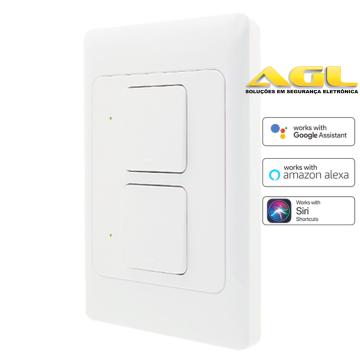 Interruptor inteligente WiFi 2 Teclas