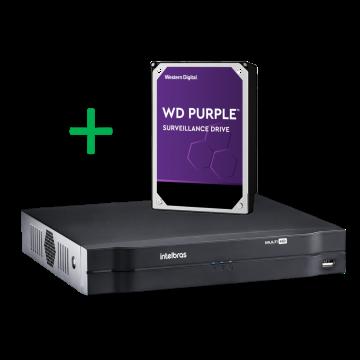 MHDX 1104 Gravador digital de 4 canais 720p com HD 1TB